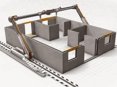 Impressora 3D Constrói Casas Num dia