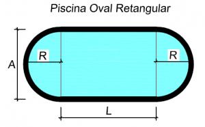 Piscinas ovais retangulares