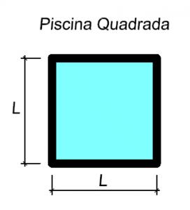 Piscinas quadradas
